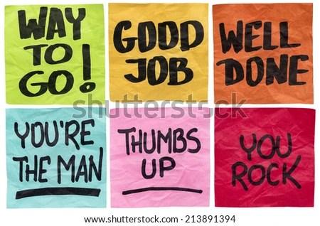 Way Go Good Job Well Done Stock Photo 213891394 - Shutterstock - job well done
