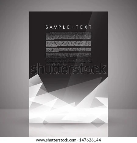 Elegant Black White Flyer Template EPS Stock Vector HD (Royalty Free - black and white flyer template