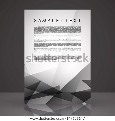 Elegant Black White Flyer Template Eps Stock Vector 147626147 - black and white flyer template