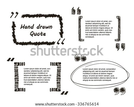 Vector Illustration Quote Hand Drawn Textbox Stock Vector 336765614 - website quotation