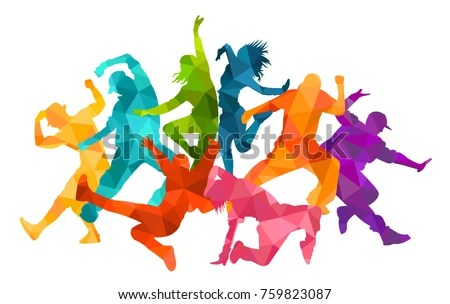 Modern Girl Wallpaper Free Download Detailed Vector Illustration Silhouettes Expressive Dance