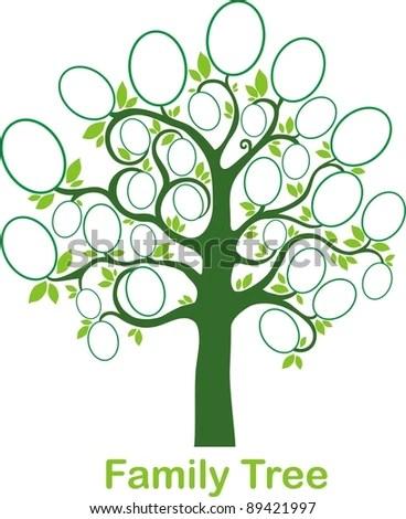 Family Tree Frames Empty Your Input Stock Illustration 89421997