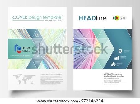 Business Templates Brochure Magazine Flyer Report Stock Vector