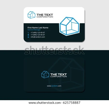 Business Card Template Blue Guest House Stock Vector 625758887 - guest card template