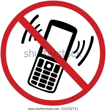 Vector Sign Turn Off Your Mobile Stock Vector 151352711 - Shutterstock - Turn Off Cell Phone Sign