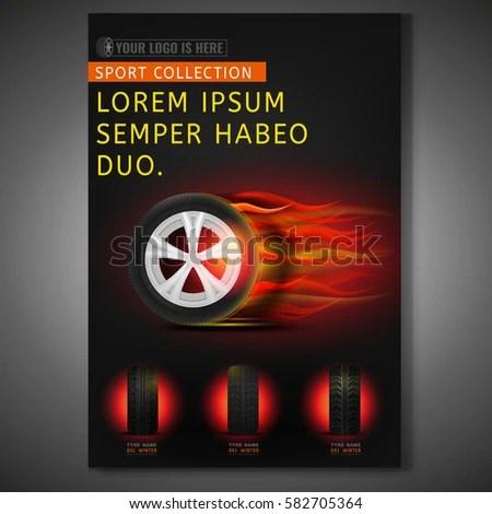 Vector Burning Tyre Poster Template Modern Stock Vector 582705364 - editable poster templates