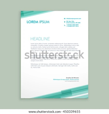 Letterhead Template Stock Images, Royalty-Free Images & Vectors