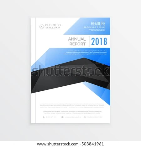 Awesome Business Brochure Template Blue Black Stock Vector HD