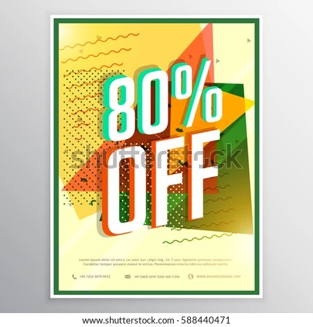 Sale Poster Banner Flyer Design Concept Stock Vector (2018 - sale poster design