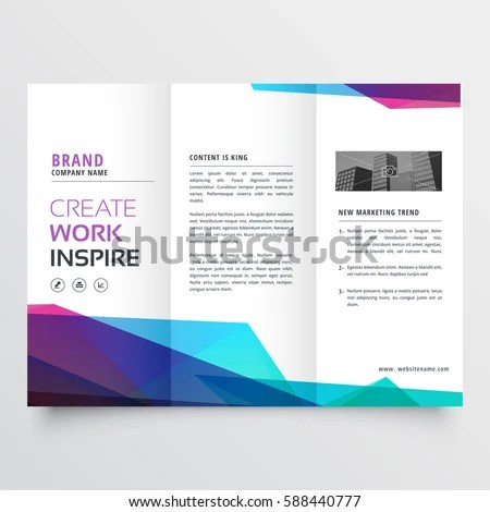Abstract Colorful Trifold Brochure Design Template Stock Vector - create tri fold brochure