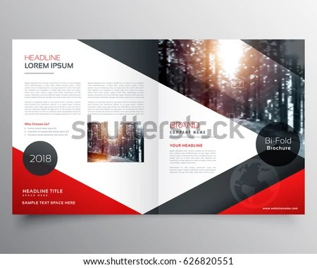 Creative Red Black Bifold Brochure Magazine Stock Vector (2018 - sample bi fold brochure