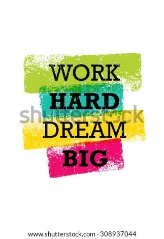 Wallpaper Volleyball Quotes Work Hard Dream Big Creative Motivation Stock Vector