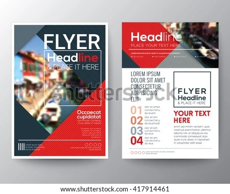 Business Brochure Flyer Design Layout Template Stock Vector