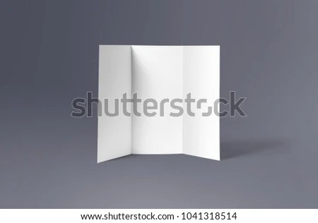 Trifold Brochure Mockup Blank Brochure White Stock Photo (Royalty - blank brochure