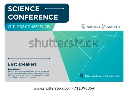Science Conference Invitation Concept Advertising Scientific Stock