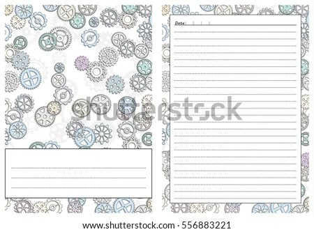 Set Pages Template Daily Planner Printable Stock Vector 556883221
