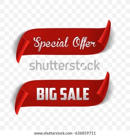 Special Offer Vector Ribbon Design Template Imagem Vetorial De - sale tag template