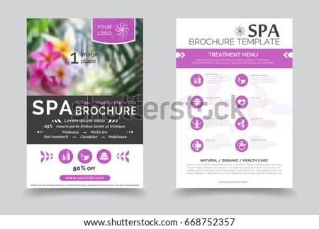 Minimalistic Spa Healthcare Design Brochure Creative Stock Vector - spa brochure