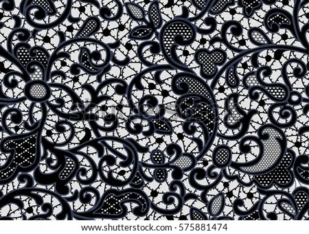 Cute Baby Sorry Hd Wallpaper Seamless Lace Pattern Flowers Black Stock Vector Royalty