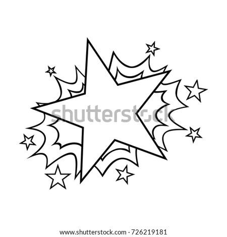 Pop Art Cartoon Comic Star Template Stock Vector HD (Royalty Free - star template