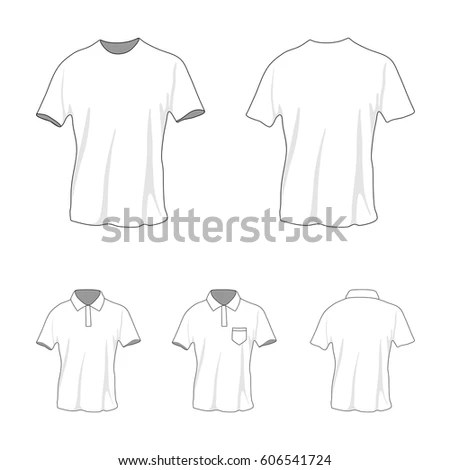 Front Back View Clothing Set Blank Stock Vector (2018) 606541724 - blank fashion design templates