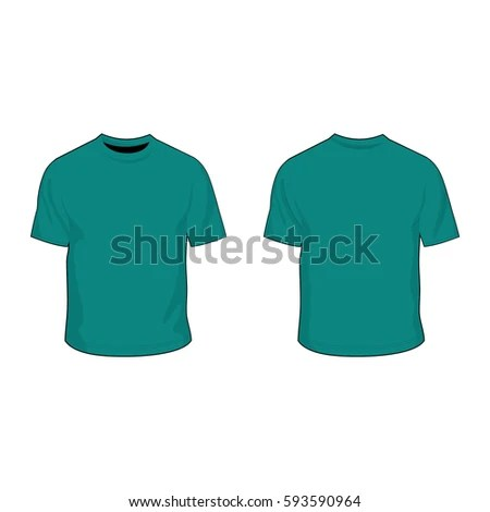 T Shirt Template Jade Dome Green Stock Vector (Royalty Free
