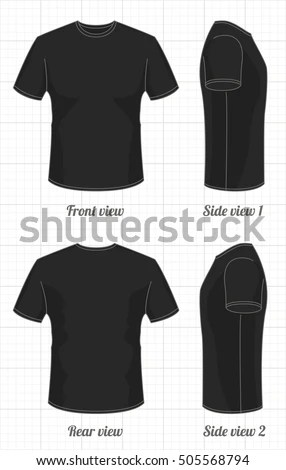 Tshirt Template Set Front Side Back Stock Vector HD (Royalty Free - t shirt template