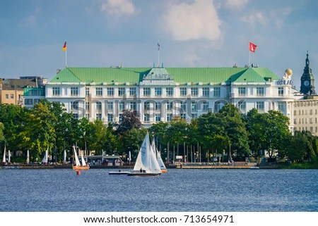 Atlantic Hotel Sail City Stock Images, Royalty-Free Images - aussen alster hotel
