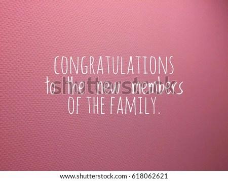Congratulations Card New Baby Girl Text Stock Photo (Royalty Free - new baby congratulations