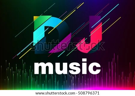 Dj Wallpaper 3d Hd Equalizer Background Dj Music Text Dj Stock Vector