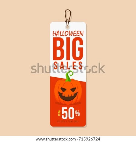 Halloween Sale Tag Template Stock Vector 715926724 - Shutterstock - sale tag template