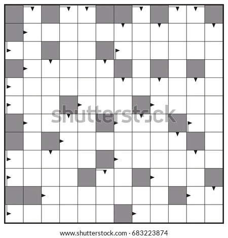 Crossword Blank Crossword Puzzle Pattern Square Stock Vector - blank crossword template