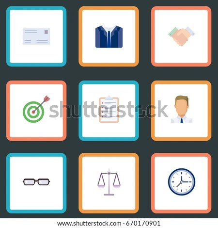 Flat Icons Envelope Employee Task List Stock Vector 670170901 - employee task list