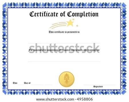 Blank Award Certificate Form Stock Illustration 4958806 - Shutterstock