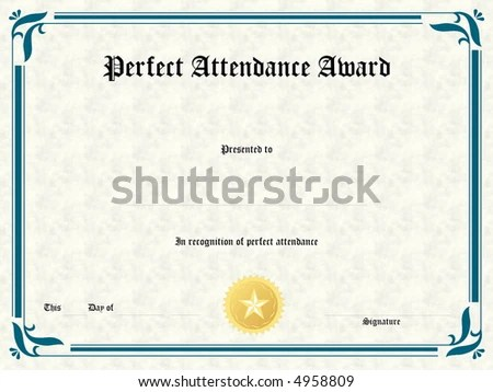 Blank Award Certificate Form Stock Illustration 4958809 - Shutterstock