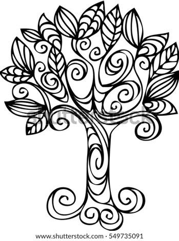 Tree Design Stock Vector 549735091 - Shutterstock