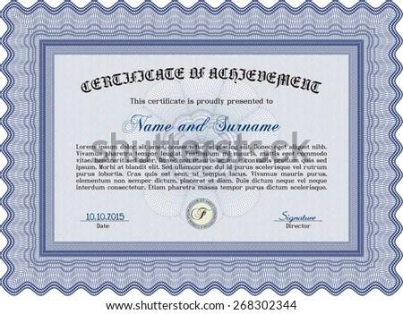 Voucher Gift Certificate Coupon Template Border Stock Vector (2018