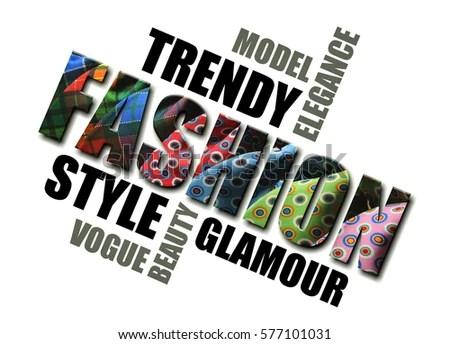 Fashion Words Concept Cards Posters Creative Stock Illustration
