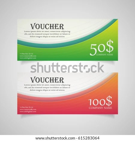 Colorful Gift Voucher Template Modern Gradient Stock Vector HD