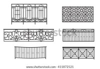 Wrought Iron Railing Stock Images, Royalty
