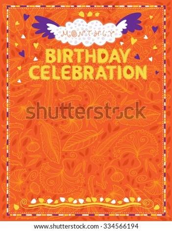 Celebration Letter Birthdays Office Staff On Stock Vector 334566194 - celebration letter