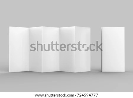 Accordion Fold Brochure Ten Page Leaflet Stock Illustration - accordion fold brochure
