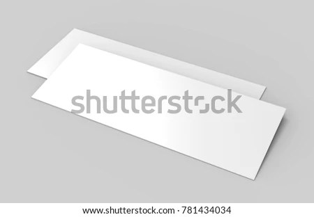 Mock Template Blank Empty Gift Voucher Stock Illustration 781434034 - blank voucher