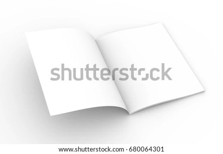 Opened Book Template 3 D Rendering Stock Illustration 680064301 - opened book