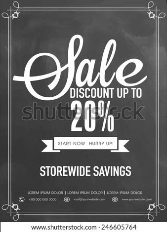 Sale Discount Upto 20 Off Flyer Stock Vector 246605764 - Shutterstock - discount flyer template