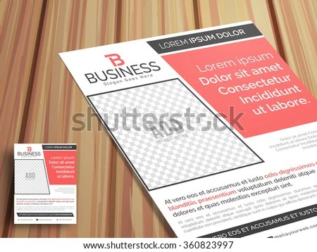 Professional Stylish One Page Business Flyer Stock Vector 360823997