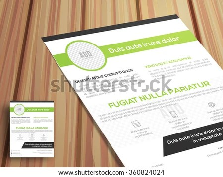 One Page Business Flyer Pamphlet Brochure Stock Vector 360824024