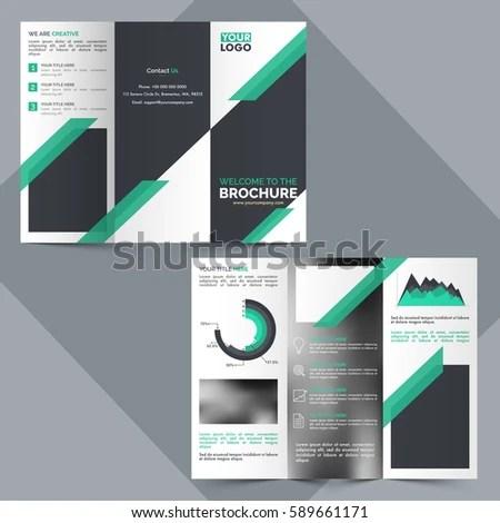 Tri Fold Business Brochure Design Statistical Infographic Stock - tri fold business brochure