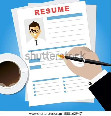 Resume Writing Concept Woman Writing Business Stock Vector 588162947 - start a resume writing business