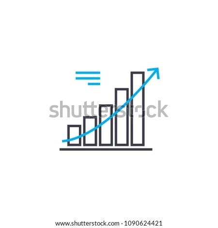 Trend Analysis Vector Thin Line Stroke Stock Vector 1090624421
